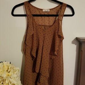 Dark brownish orange blouse tank size small